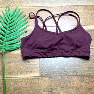 Manduka Purple Criss Cross Sports Bra sz XL